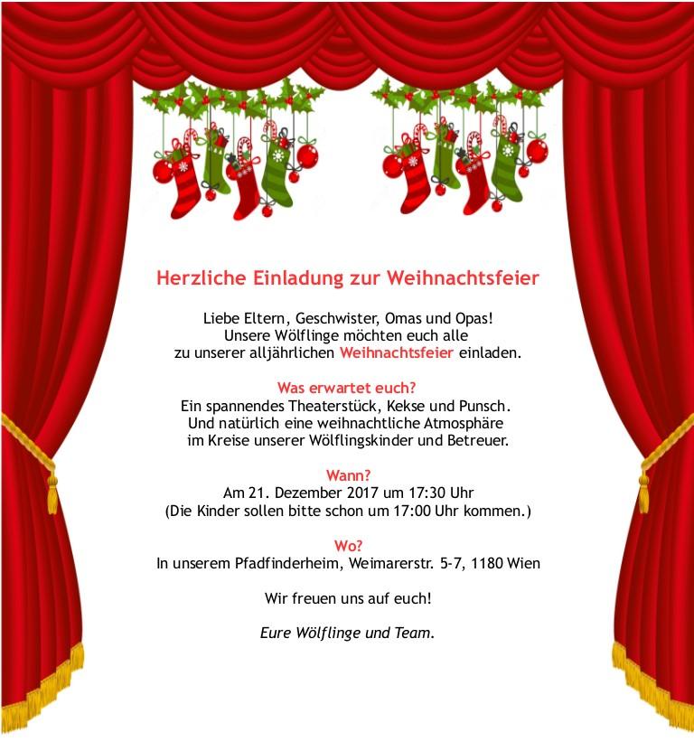 Weihnachtsfeier Theaterstück.Weihnachtsfeier Der Wölflinge Die Xiii Kolonne